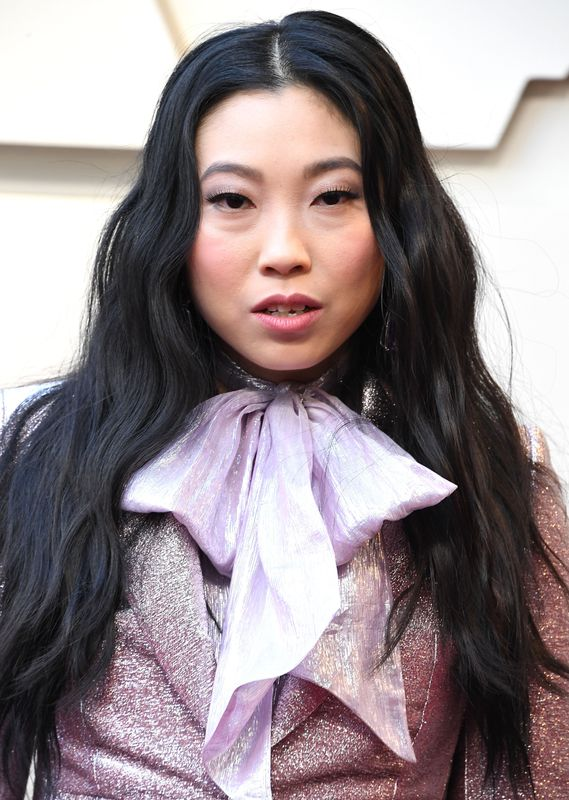 Awkwafina at the Oscars in Los Angeles on Feb. 24. Makeup by Mai Quynh using Kiehl's and Armani products. Hair by Anh Co Tran.