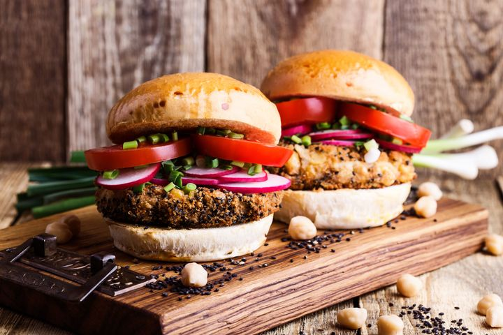 Plant-based burgers were increasingly popular food delivery options in 2019.