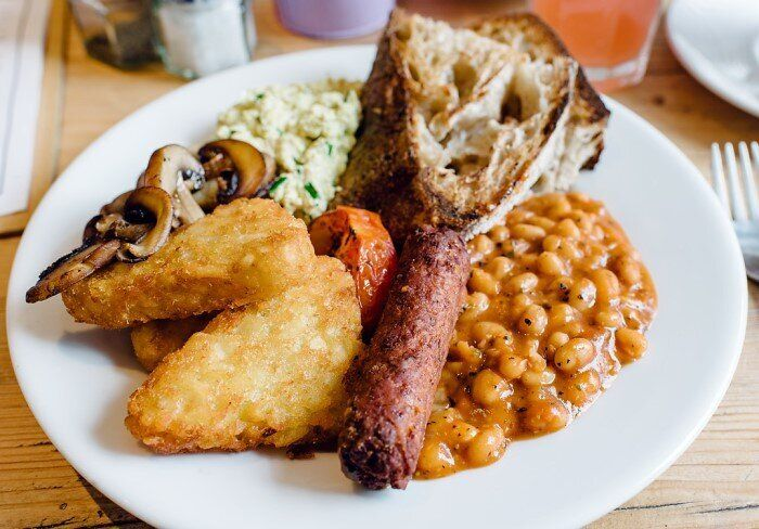 Restaurante vegano The Canvas, em Londres.