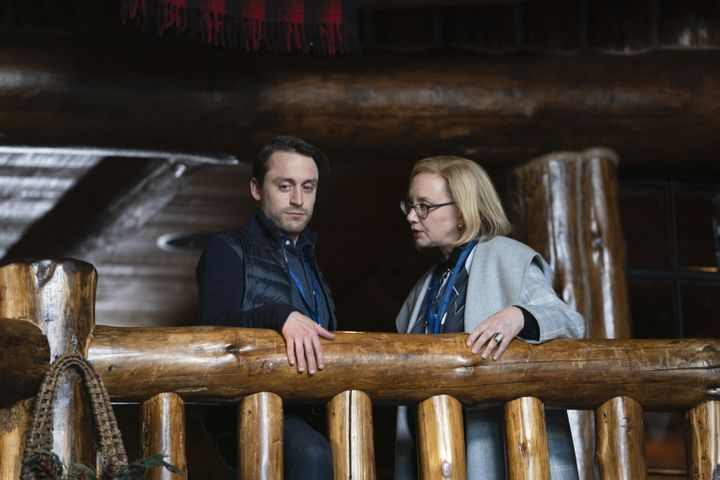 "Kieran Culkin and J. Smith-Cameron in the second season of ""Succession."""