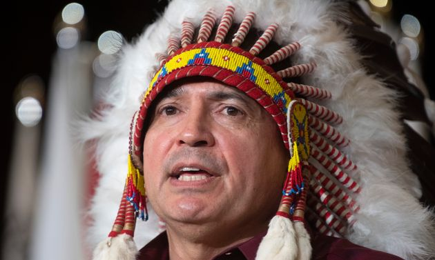 National Chief Perry Bellegarde speaks to the Assembly of First Nations in Ottawa on Dec. 3,