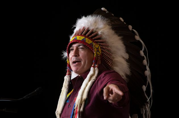 Perry Bellegarde addresses the Special Chiefs Assembly in Ottawa, on Dec. 3,