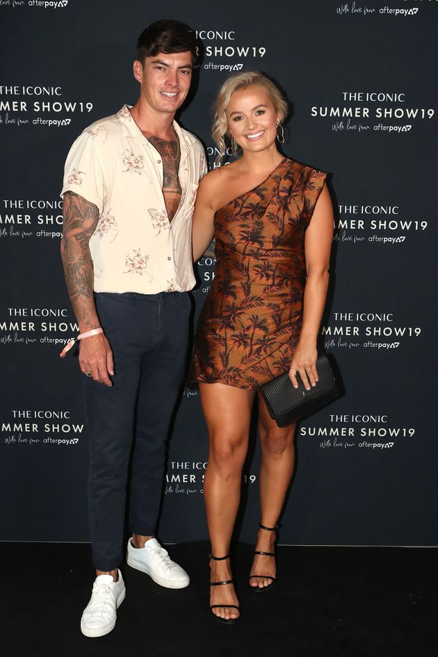 Adam and Bachelor contestant Elly Miles at The Iconic Summer Show last