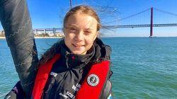 「リスボン!!」グレタさんが笑顔のツイ—ト。ヨットで大西洋横断してポルトガル到着