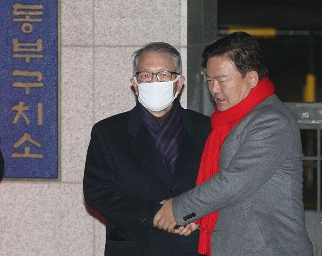 이날 민경욱 자유한국당 의원이 김 전 실장의 출소를