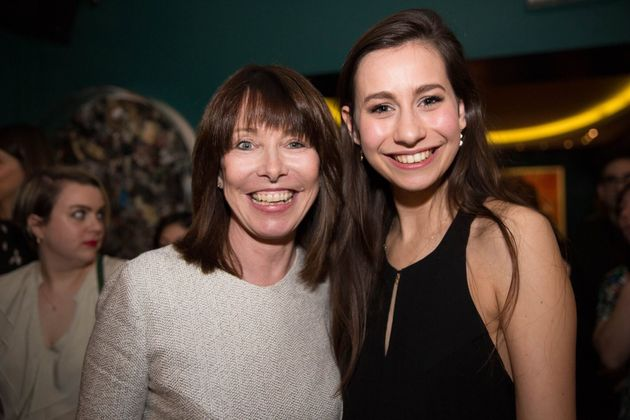 Sky News's Kay Burley withWords By Women 2016 young journalist of the year, Flora Carr, at the...