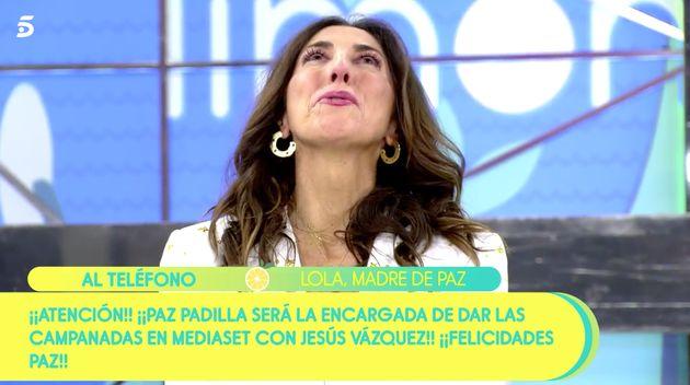 Paz Padilla, llorando en
