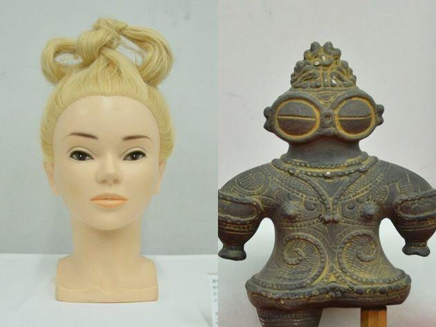 土偶は複製(右)