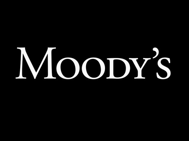 Moody's Corporation logo, credit rating agency, graphic element on