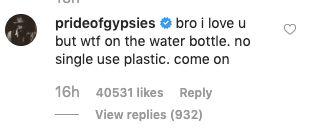 Westlake Legal Group 5de77e841f0000f431df0616 Jason Momoa Goes Full Drogo On Chris Pratt's Single-Use Plastic Water Bottle