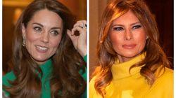 Kate fa le prove da Regina (senza William) alla cena NATO e sfida Melania a colpi di