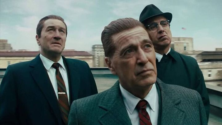 Robert De Niro, Al Pacino y Joe Pesci en una escena de 'El Irlandés'.