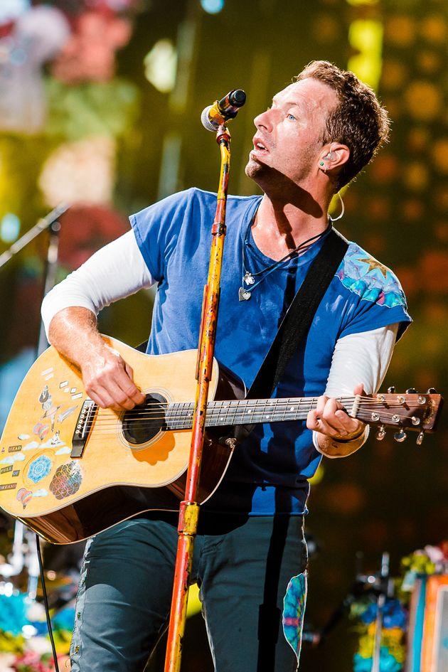 Chris performing in Brazil back in