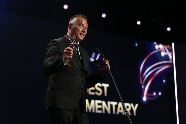 Stan Grant accepts the AACTA Award for Best
