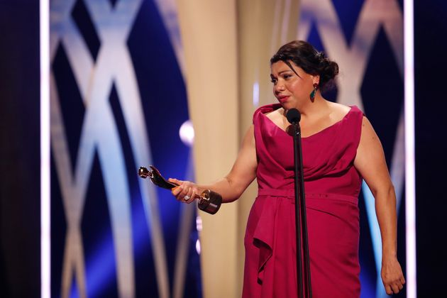 Deborah Mailman accepts the AACTA Award for Best Lead Actress In A Television