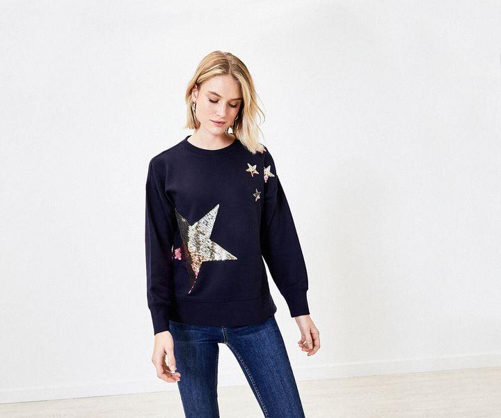 Sequin Star Sweater, Oasis