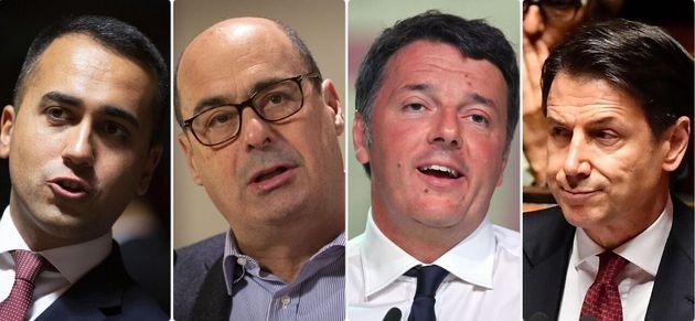 Luigi Di Maio - Nicola Zingaretti - Matteo Renzi - Giuseppe