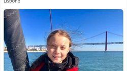 El efecto óptico de esta foto de Greta Thunberg arrasa en
