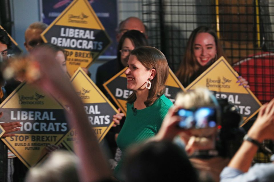 Jo Swinson during the launch of her party's manifesto at FEST, Stables Market, in