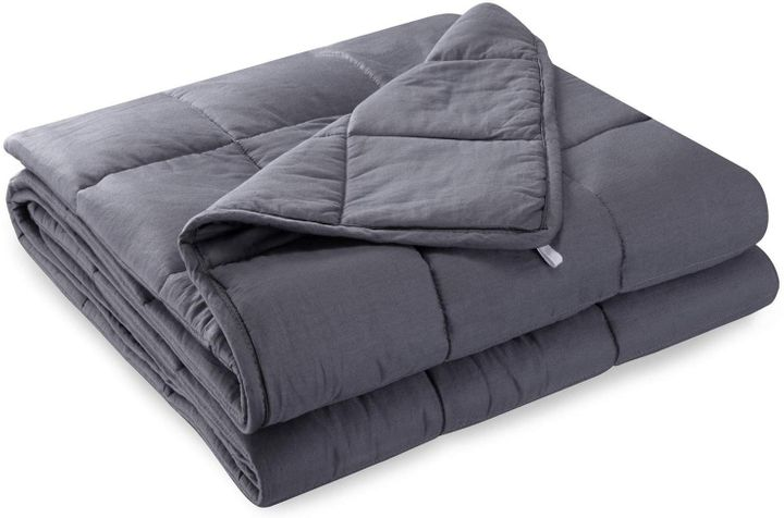 """<a href=""""https://amzn.to/2OQZpkR"""" target=""""_blank"""" rel=""""noopener noreferrer"""">Anjee Weighted Blanket for Sleeping, Amazon, </a>&pound;69.99"""