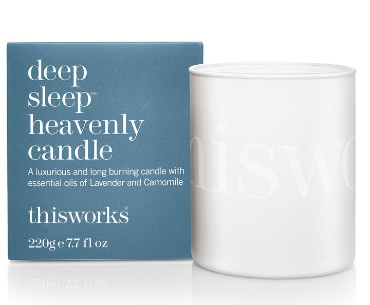 """<a href=""""https://fave.co/2Rk0PG4"""">Deep Sleep Heavenly Candle, Marks &amp; Spencer,</a> &pound;26"""