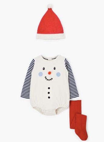 Snowman Romper and Hat Set