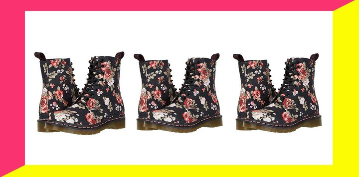 You won't want to miss out on these floral Dr. Martens that are on sale right now at Zappos that'll go with everything from a silky slip dress to sweater-and-jeans look
