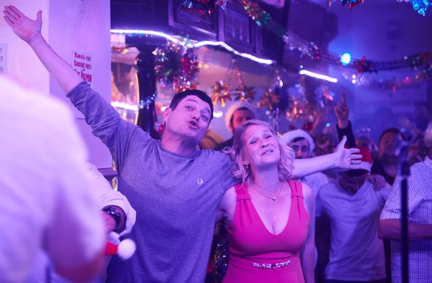 Mathew Horne and Joanna Page in the Christmas