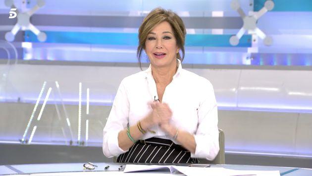 Ana Rosa Quintana en el plató de