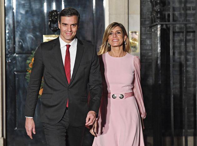 Sánchez y su esposa, Begoña