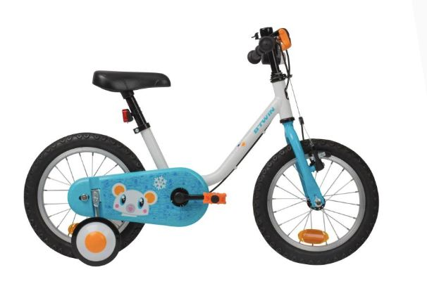 """<a href=""""https://fave.co/2rZkzUP"""" target=""""_blank"""" rel=""""noopener noreferrer"""">B&rsquo;Twin 500 Kids Bike (Arctic 14&Prime;), Decathlon</a>, &pound;69.99"""