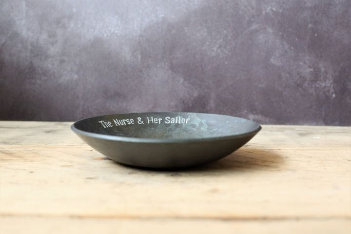 """<a href=""""https://fave.co/2rcHbRK"""">Iron Bowl with Personalised Message, Coach House Forge, Etsy,</a> &pound;54.50"""