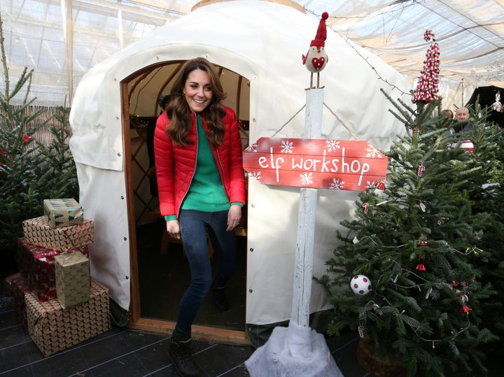 "The duchess exits the ""elf workshop."""