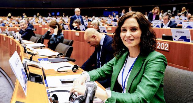 La presidenta de la Comunidad de Madrid, Isabel Díaz Ayuso, en el Comité de las