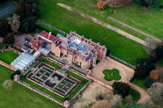Aerial view of Chequers, the official residence of British prime