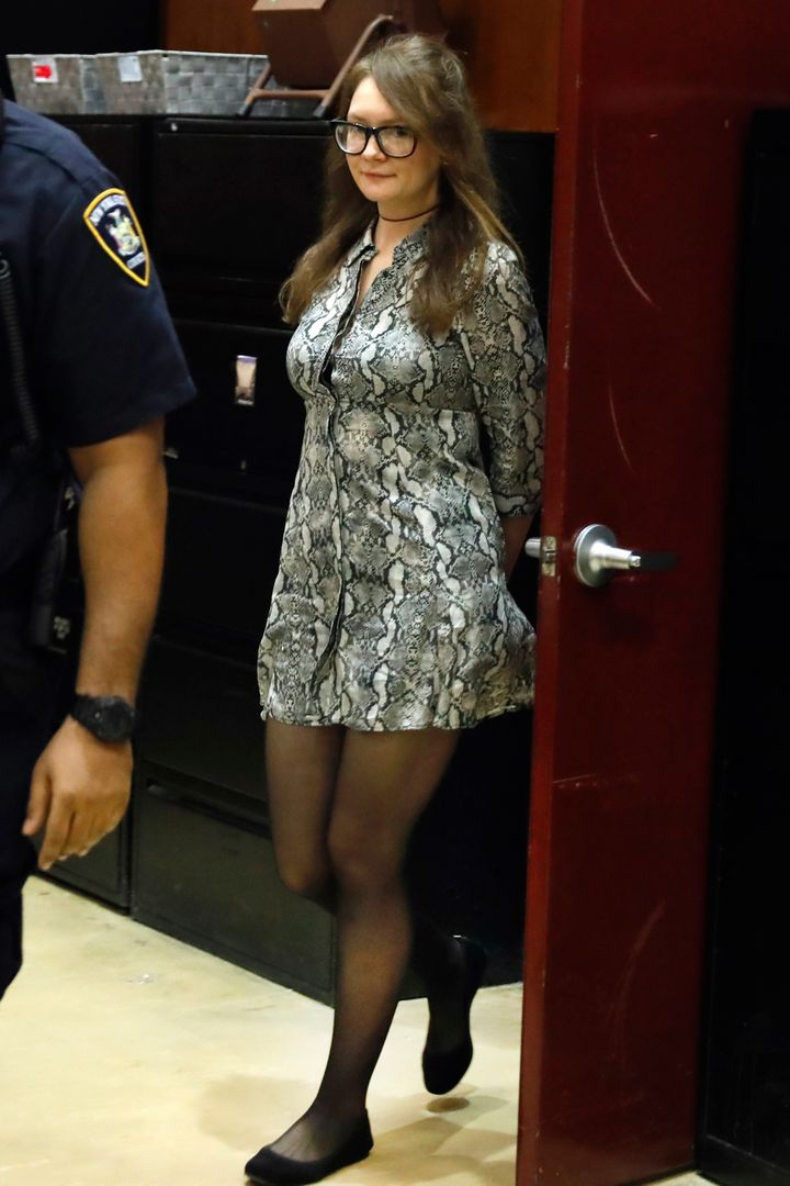 Delvey returns from a recess during her trial at New York State Supreme Court on April 22, 2019.