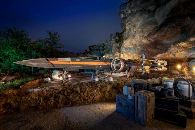 Nave da Resistência, um dos componentes da nova experiência da Disney em