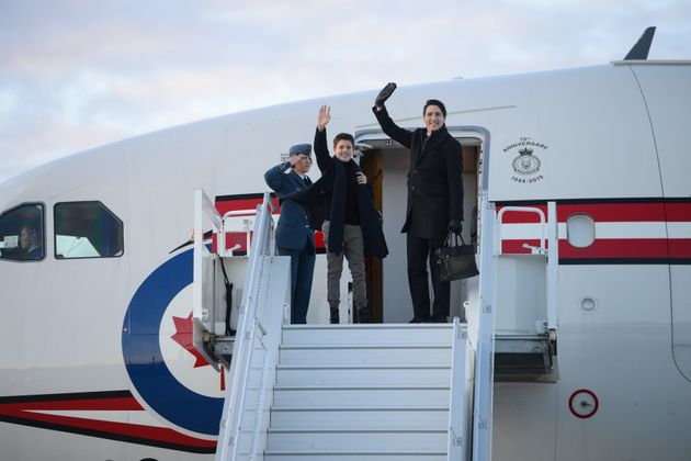 Prime Minister Justin Trudeau and son Xavier depart Ottawa on on Dec. 2,