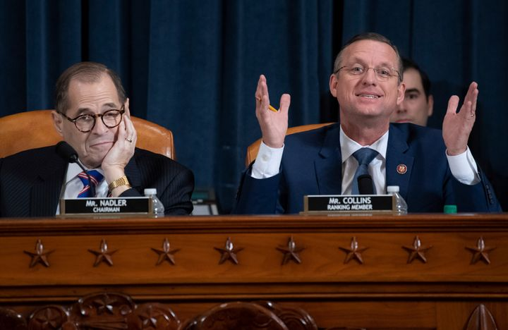 Rep. Doug Collins (right), the House Judiciary Committee's ranking Republican, speaks during the Dec. 4 hearing on the consti