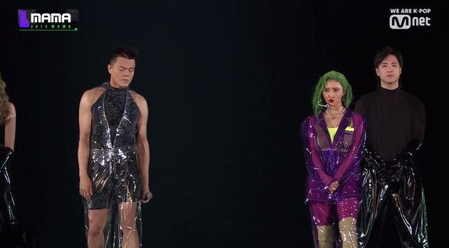 '비닐옷의 귀환' 박진영이 화사와의 콜라보 무대 소감을