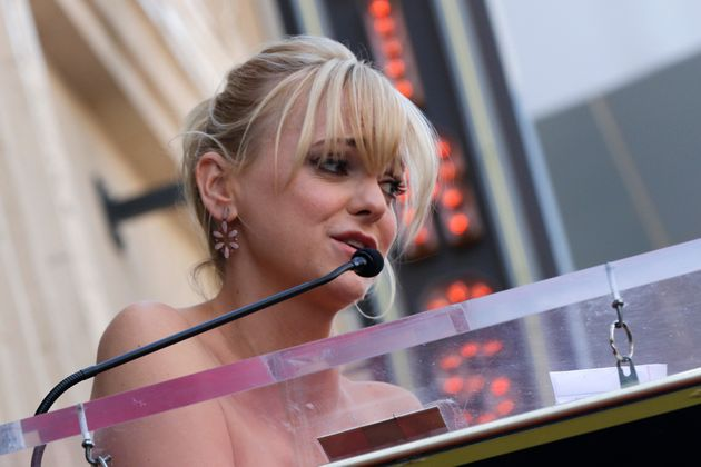Anna Faris speaks at the ceremony honoring Eva Longoria with a star on the Hollywood Walk of Fame on...
