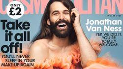 넌바이너리 조나단 반 네스가 영국 코스모폴리탄 잡지의 커버 모델이