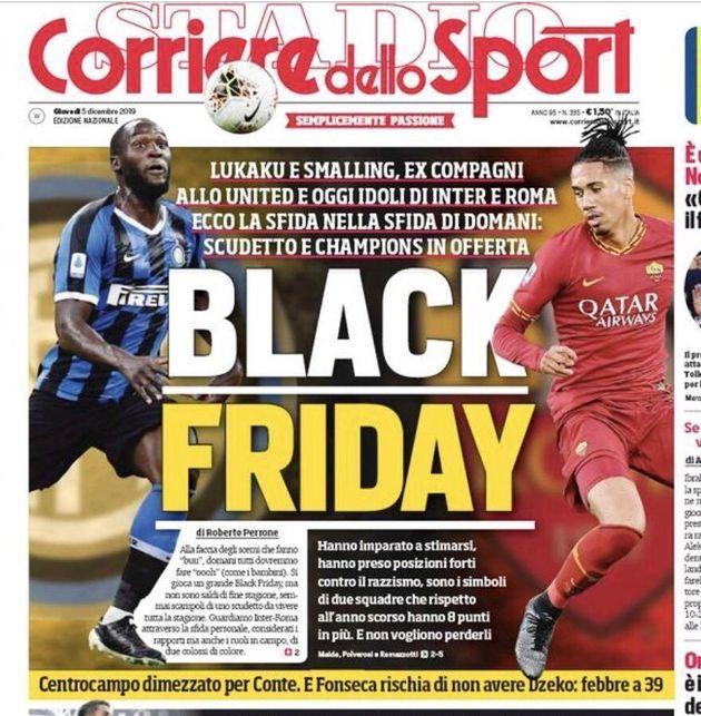 La Une du journal italien Corriere dello Sport n'est pas passée inaperçue auprès de tout le