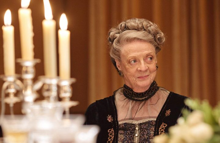 Dame Maggie as Violet Crawley in the Downton Abbey