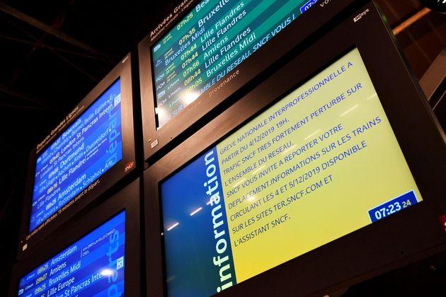 Información sobre el estado de los trenes en Francia con motivo de la huelga