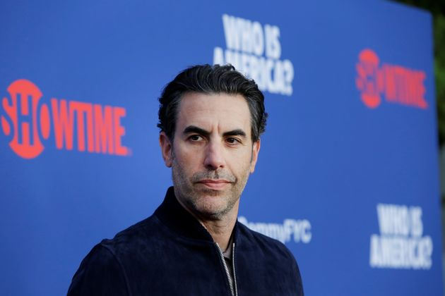 Sacha Baron Cohen arrives at the premiere of red carpet event for the screening for the Showtime Series...