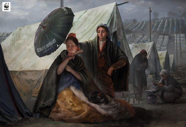"""Le parasol"" de Francisco de Goya dans un camp de"