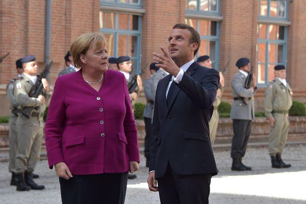Angela Merkel y Emmanuel Macron, el pasado 16 de octubre en un acto en Toulouse