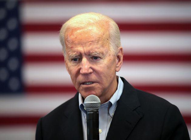 Joe Biden, ici à Algona dans l'Iowa le 2 décembre