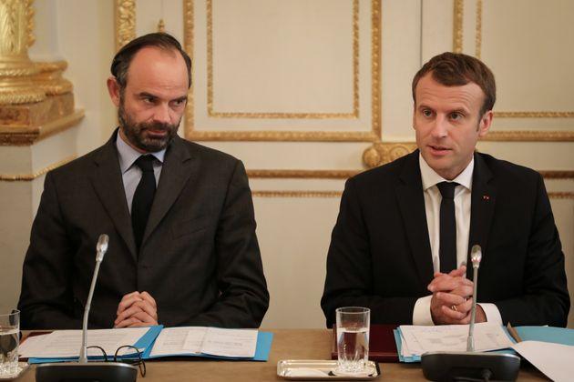 Emmanuel Macron et Edouard Philippe à l'Elysée en octobre
